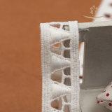 Weiß gestrickte afrikanischer Großhandelsjacquardwebstuhl-Nylonnetzkabel-Spitze