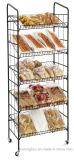 Розничный стеллаж для выставки товаров еды змейки хлебопека завальцовки утюга с 5-Shelves
