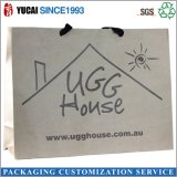 Reciclado bolsa de papel de portador de las señoras bolso de compras para la ropa