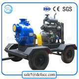 Bomba de agua accionada por el motor diesel del jardín del oscurecimiento del uno mismo