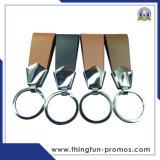 Настраиваемые кожаный брелок металлический брелок для рекламных подарков