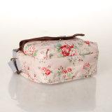 형식 방수 PVC 분홍색 꽃 화포 어깨에 매는 가방 (99072)