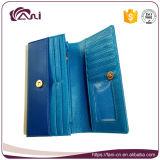 Portefeuille van de Beurs van de Vrouwen van Fani de Recentste Blauwe, de Portefeuille van Dames, de Beurs van de Vrouw van het Leer