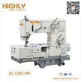 Hl-1302-4With5W scelgono la macchina per cucire a base piatta di Chainstitch Picotting del doppio ago
