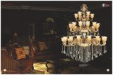 Het Licht van de Kroonluchter van het Kristal van de Legering van het Zink van het Project van het Hotel van de luxe