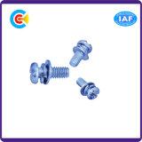 Bleu Croix en acier inoxydable de zinc/Phillips à tête cylindrique avec joint/la rondelle