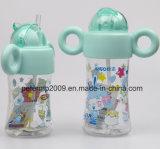 логос подгонянный 260ml ягнится бутылки воды с Strew бутылка воды BPA свободно пластичная
