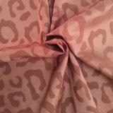 Telas de moda cómodas del telar jacquar del punto del leopardo