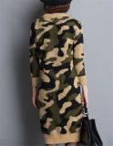 Camisola De Camuflagem De O-Pescoço Coreano
