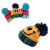 Chapéu e luva de tricô dos desenhos animados do menino (JRK098)