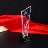 Trofeo barato de la estrella del vidrio cristalino para el recuerdo