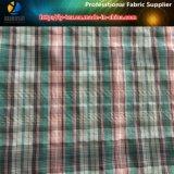 Tela teñida hilado de la arruga de la verificación de Polyester&Nylon