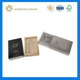 Rectángulo de empaquetado de la impresión del cajón de encargo de lujo del papel para los productos cosméticos (con la bandeja de la ampolla del terciopelo)