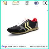 Tejido textil de poliéster Jacquard transpirable PU para zapatillas deportivas