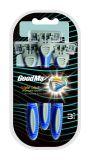 Популярные Snakelike тройной Blade бритвы с резиновую рукоятку в блистерной упаковке (SL-3102TL)