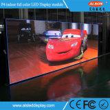 Étalage d'écran d'intérieur polychrome de la location DEL de P4 HD pour l'étape