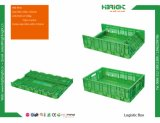 Caixa plástica Foldable da série do supermercado 600*400 para o vegetal e a fruta