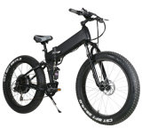 Plegamiento gordo eléctrico de la bici de Suspention 4.0 de la montaña llena del Hummer