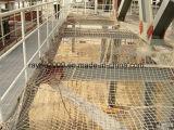 가을 보호 내화성 PE Knotless 콘테이너 안전망