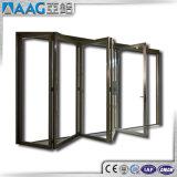 Vetro di alluminio del doppio del patio che fa scorrere i portelli di piegatura di alluminio dei portelli di piegatura