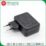 EU 플러그 Ce/GS/CB 승인을%s 가진 보편적인 여행 USB 충전기 5V 2.4A