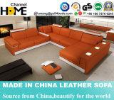 Caldo-Vendendo il sofà domestico del cuoio del salone con memoria del bracciolo (HC1064)