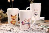 taza de encargo de cerámica 12oz con el diseño animal para los cabritos