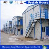 Casa prefabricada del presupuesto de la buena calidad de la casa prefabricada modular inferior del edificio del bastidor de estructura de acero y de los paneles ligeros de Sanwich