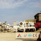 Triturador móvel de impacto de alta eficiência para planta de trituração de pedras