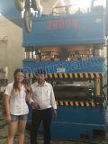 Placa de la puerta del metal de 1000 toneladas que graba la máquina de la prensa hidráulica