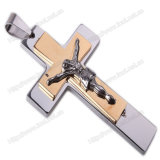 ステンレス鋼のカトリック教のネックレスの吊り下げ式の十字、宗教ネックレスの十字(IOst00G)