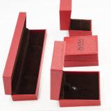 Jewellry 상자 (J61-E1)를 포장하는 돋을새김 와니스 색칠 PU 가죽