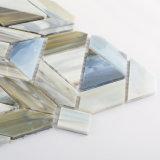 Azulejos de mosaico de cristal coloridos del arte del corte de la mano para la decoración del cuarto de baño
