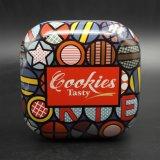 De vierkante Doos van het Brood van het Blik; De Doos van het Metaal van de Snoepjes van de chocolade (S001-V21)