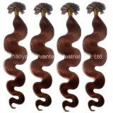 A queratina U-Derruba, Eu-Derruba, prega, extensão lisa Dyeable do cabelo humano