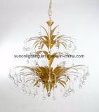 Luz personalizada do pendente do ferro da folha de ouro de Champagne para o hotel