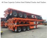 80tons to 100tons Container Flatbed Trailer 3 Eixo