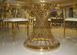 Gaststätte-Stahlspeisetisch-gesetztes ausgeglichenes Glas für Hochzeit