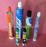 接着剤のShoeshineの包装のクリーム色の空アルミニウム管をつける