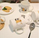 Taza de cerámica, Liling taza de cerámica, taza de cerámica con la etiqueta