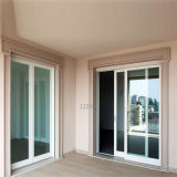 現代アルミニウムガラスドアデザイン黒い絵画が付いているアルミニウム折れ戸