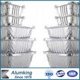 Rechteckiger Aluminiumfolie-Nahrungsmittelbehälter