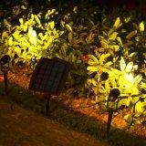 Resistente al agua IP65 Spike césped iluminación decorativa paisaje Ruta Jardín Solar Spotlight