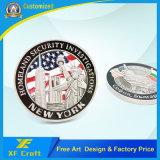 Il commercio all'ingrosso ha personalizzato la moneta di sfida del metallo del ricordo con illustrazione libera (XF-CO31)