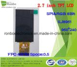 2.7 moniteur de TFT LCD de pouce 960*240 Spi&RGB, Ili8961, 40pin avec l'écran tactile d'option