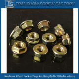 Prix d'usine Carbon Steel DIN6923 Brides hexagonales Nuts M6 avec plat