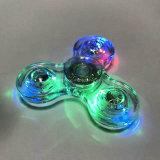 Novo design LED Light Hand Spinner Fidget Crystal Plastic