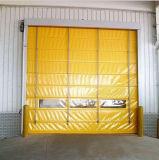 Puerta rápida del balanceo del marco del viento de la prueba del PVC de la recuperación de alta velocidad de aluminio del uno mismo