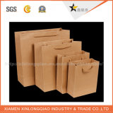 Petits sacs en papier de Brown de qualité personnalisés par usine avec des traitements