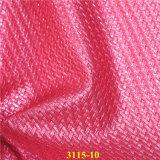2017 Fashion tissé de gaufrage en simili-cuir de PU de grain